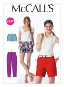 McCalls Ladies Easy Sewing Pattern 6930 Shorts & Pants