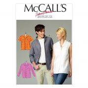 McCalls Ladies & Mens Sewing Pattern 6932 Shirts & Blouse Tops