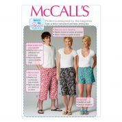 McCalls Adult Unisex Easy Learn to Sew Sewing Pattern 6933 Shorts in 3 Lengths