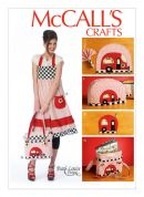 McCalls Sewing Pattern 6935 Apron, Potholders, Napkins, Napkin Rings, Placemats, Toaster Cover & Insulated Soft Cooler