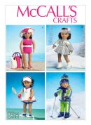 McCalls Crafts Sewing Pattern 6938 Sportswear Doll Clothes