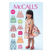 McCalls Toddlers Easy Sewing Pattern 6944 Top, Dresses, Rompers & Panties