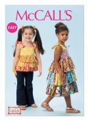 McCalls Childrens Easy Sewing Pattern 6946 Top, Dress & Pants