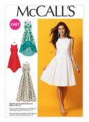 McCalls Ladies Easy Sewing Pattern 6953 Dresses with Pleated Skirt