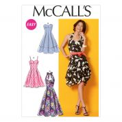 McCalls Ladies Sewing Pattern 6956 Dresses with Pleated Skirt & Belt