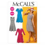McCalls Ladies Easy Sewing Pattern 6957 Simple Jersey Dresses & Belt