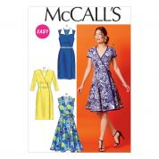 McCalls Ladies Easy Sewing Pattern 6959 Wrap Dresses & Belt