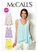 McCalls Ladies Easy Sewing Pattern 6960 Summer Tops & Tunics