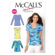 McCalls Ladies Easy Sewing Pattern 6963 Simple Jersey Tops