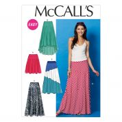 McCalls Ladies Easy Sewing Pattern 6966 Skirts in 5 Variations