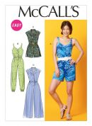 McCalls Ladies Easy Sewing Pattern 6969 Rompers & Jumpsuits