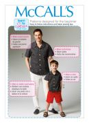 McCalls Men Learn to Sew Easy Sewing Pattern 6972 Shirt, Shorts & Pants