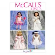 McCalls Crafts Sewing Pattern 6981 Fancy Dress Costume Doll Clothes