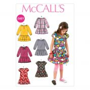 McCalls Girls Easy Sewing Pattern 6982 Summer Dresses with Gathered Sleeves
