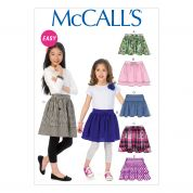 McCalls Girls Easy Sewing Pattern 6984 Gathered Summer Skirts
