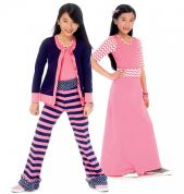 McCalls Girls Easy Sewing Pattern 6985 Cardigan, Top, Skirt & Pants