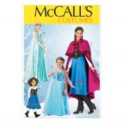 McCalls Girls Sewing Pattern 7000 Elsa Ice Princess Costumes