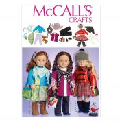 McCalls Easy Sewing Pattern 7006 Doll Clothes Wardrobe with Accessories