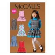 McCalls Girls Easy Sewing Pattern 7008 Pinafore Dresses