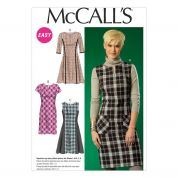 McCalls Ladies Easy Sewing Pattern 7014 Dresses with Cup Sizes