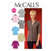 McCalls Ladies Easy Sewing Pattern 7018 Button Up Tops & Tunics