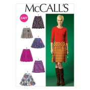 McCalls Ladies Easy Sewing Pattern 7022 Skirts in 6 Styles