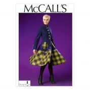 McCalls Ladies Sewing Pattern 7025 Fitted & Flared Lined Coat