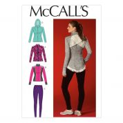 McCalls Ladies Sewing Pattern 7026 Stretch Knit Jackets & Leggings