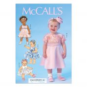 McCalls Toddlers Sewing Pattern 7037 Dresses, Panties & Headbands