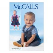 McCalls Toddlers Sewing Pattern 7038 Top, Overalls & Pinafore Dress