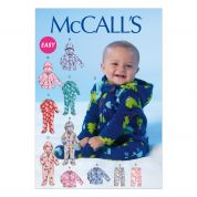 McCalls Toddlers Easy Sewing Pattern 7039 Jackets, Onesies & Pants