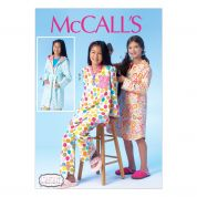 McCalls Childrens Sewing Pattern 7045 Dressing Gown & Pyjamas