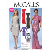 McCalls Ladies Sewing Pattern 7047 Formal Evening Gown Dresses