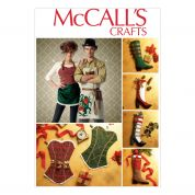 McCalls Ladies & Mens Sewing Pattern 7062 Novelty Aprons & Christmas Stockings