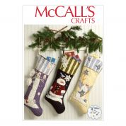 McCalls Sewing Pattern 7063 Christmas Stockings with Applique