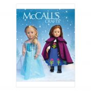 McCalls Doll Clothes Easy Sewing Pattern 7065 Elsa Ice Princess Costumes