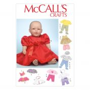 McCalls Easy Sewing Pattern 7066 Baby Doll Clothes