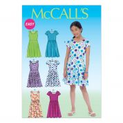McCalls Childrens Easy Sewing Pattern 7079 Simple Summer Dresses