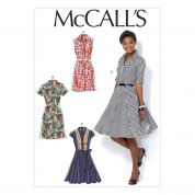 McCalls Ladies Sewing Pattern 7084 Shirt Dresses & Belt