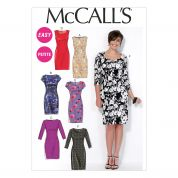 McCalls Ladies Sewing Pattern 7085 Semi Fitted Lined Dresses