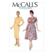 McCalls Ladies Sewing Pattern 7086 Vintage Style Dresses