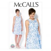 McCalls Ladies Sewing Pattern 7088 Fitted Bodice Summer Dress