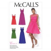 McCalls Ladies Sewing Pattern 7090 Party Dresses in 4 Styles