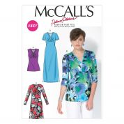 McCalls Ladies Sewing Pattern 7092 Stretch Knit Tops & Dresses