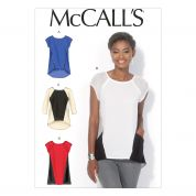 McCalls Ladies Sewing Pattern 7093 Panelled Tops & Tunics