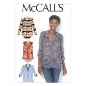 McCalls Ladies Sewing Pattern 7094 Loose Fitting Blouse Tops