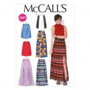 McCalls Ladies Easy Sewing Pattern 7096 Skirts in 6 Styles