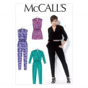 McCalls Ladies Sewing Pattern 7099 Jumpsuit in 4 Lengths