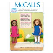 McCalls Learn to Sew Easy Sewing Pattern 7105 Doll Clothes