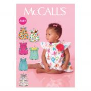 McCalls Toddlers Easy Sewing Pattern 7107 Rompers